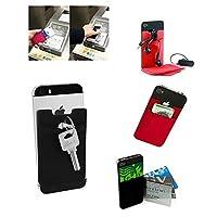 新しいユニバーサル電話カードホルダー弾性携帯電話財布ケースクレジットIDカードポケット接着剤ステッカー携帯電話ポケット