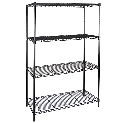 XinMuZheng Estantería de alambre de acero de 4 niveles para almacenamiento de estanterías de libros, tienda de utensilios de cocina