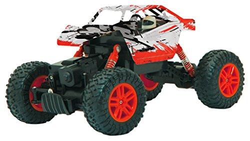 Jamara 410054 Hillriser 1:18 Crawler 4WD 2,4GHz-2 aandrijfmotoren, Allrad, geveerd chassis, instelbaar spoor, van het chassis ontkoppelde assen, extreme veerkracht