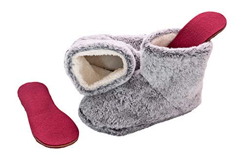 Cold Sore Feet Relief Heated Inserts with Booties for Women -...