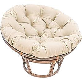 Coussin de Chaise de Balançoire Panier Suspendu,Sink Into Notre épaisse Confortable Et Surdimensionné Papasan,Rond…