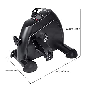 ZOGIN Mini Exercise Bike, Under Desk Pedal Exerciser Arm and Leg Exercise Cycle Bike with LCD Screen Displays (Black)