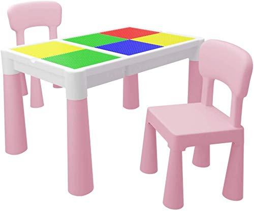 Tische und Stühle Kinder Tisch und Stuhl Set, Multi-Funktions-Studie Tisch, Kindergarten Familie Spielzeug Lernen Gastronomie Höhenverstellbarer Tisch Stuhl Sets/Blau / 1table 1Chair