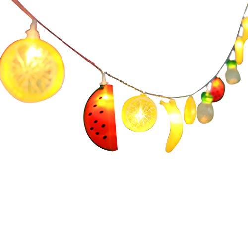 JUSTDOLIFE LED String Light Assorted Fruit Decor String Night Light Home Patio Decorative String Light 6.56ft 10 LEDs