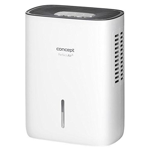 CONCEPT Hausgeräte OV1000 Luftentfeuchter, 75, Kunststoff, Weiß