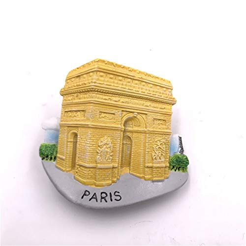 Chornlily Resina imán Japón Rumania Tailandia Turquía London Victoria Francés Arco de Triunfo de construcción Etiquetas engomadas magnéticas de Nevera imanes Nevera (Color : ARC de Triomphe)