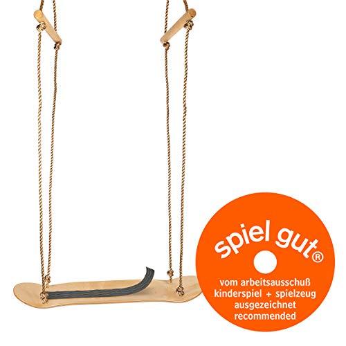 small foot 12091 Skateboard-Schaukel aus Holz, zum Schaukeln im Sitzen und Stehen, mit Handgriffen, ab 3 Jahren
