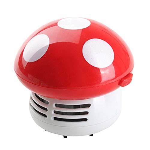 Ba30DEllylelly Mini limpiador de escritorio de hongos, aspiradora port¨¢til, mesa de escritorio de esquina, colector de polvo, barredora para ordenador de coche y hogar