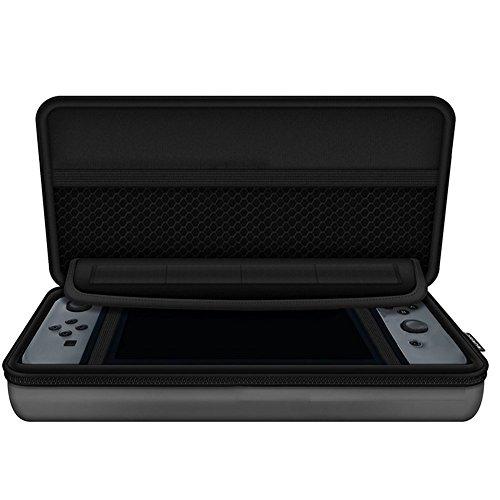 CAOLATOR - Rangement Rigide et Anti-Choc pour Nintendo Switch - Etui de Rangement zippé en EVA pour la Console Nintendo Switch et Ses Accessoires - Gris