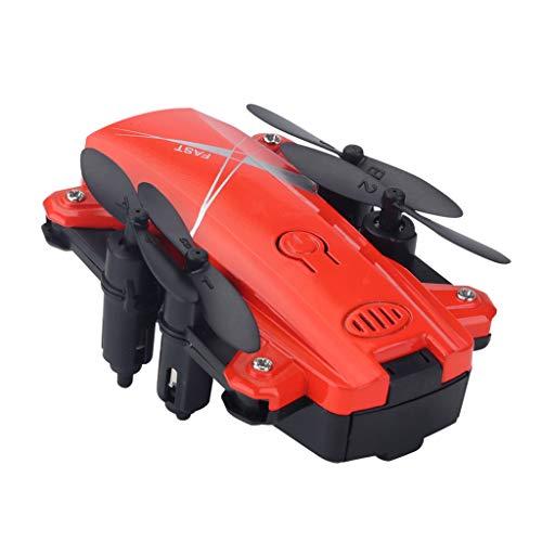SM SunniMix WiFi FPV RC Quadrirotor Drone 0.3MP 2.0MP Caméra Pliable Selfie Drone Passe-Temps, Mini Drone Portable Carry - 2.0MP Caméra Rouge