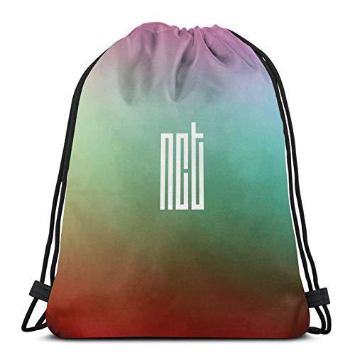 Hdadwy Nct Dream Lab V. 4 Sport Bag Gym Sack Mochila con cordón para Compras en el Gimnasio