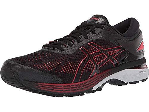ASICS Men's Gel-Kayano 25 Running Shoes, 7M, Black/Classic RED