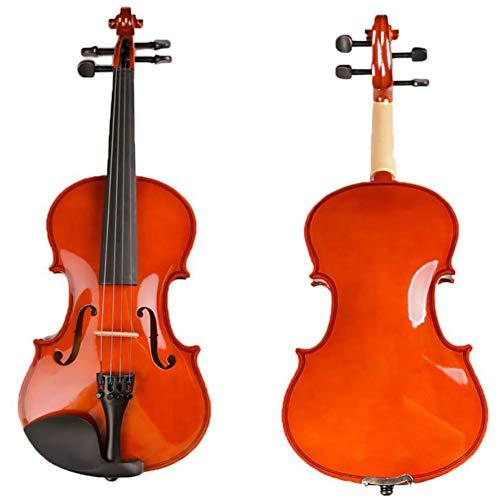 BLKykll 4/4 Violine Mit Hardcase,4/4 Naturholz Akustische Violine,Mit Hartschalenkoffer, Schulterstütze, Bogen, Kolophonium Und Zusätzliche Saiten,2/4