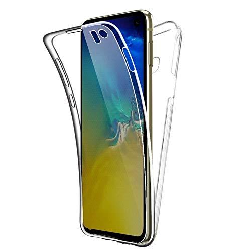 TBOC Funda para Samsung Galaxy S10e (5.8 Pulgadas) - Carcasa [Transparente] Completa [Silicona TPU] Doble Cara [360 Grados] Protección Integral Total Delantera Trasera Lateral Móvil Resistente