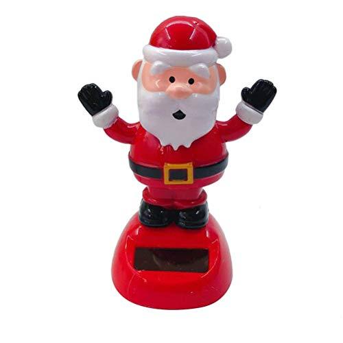 Kenyaw Solar Wackel Weihnachtsmann Figur Spielzeug Sammelfigur Solar Wackelfigur Klein Autodekoration Solarfigur Deko Weihnachten Dekoration Spielzeug