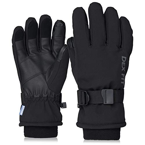 DEX FIT Cold Proof Warm Winter Outdoor Gloves WG201, Double Insulated Windproof, Comfortable Snug Finger Fit, Grip, Touchscreen, Durable Waterproof,...