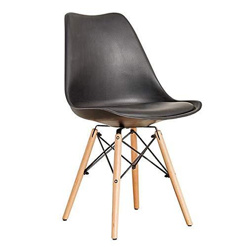 YumEIGE kruk van hout + hoge elastische spons + PU, opstapkruk 18,8 × 31,4 inch belasting 150 kg, home/shop/stude/garderobe/kaptafel, make-up-stoel