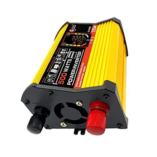 Gracy Power Inverter DC 12V a 110V AC convertidor de energía de Onda sinusoidal Pura del Adaptador del Cargador 500W inversor de la energía del Coche, transmisor