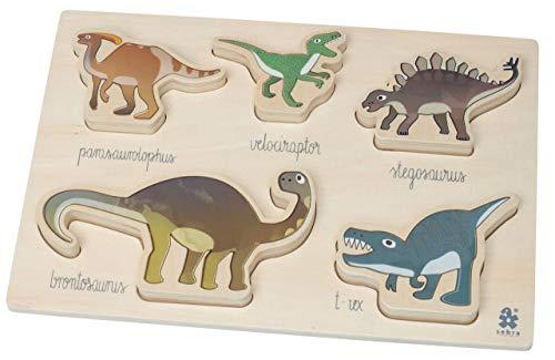 Sebra Kräftiges Puzzle aus Holz, Dino