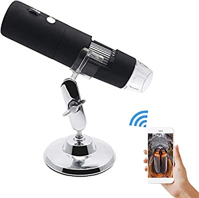 USB Microscope Camera 50X to 1000X Digital Microscope USB 8 LED Light for iPhone Android Wireless WiFi Handheld Zoom Magnification Magnifier