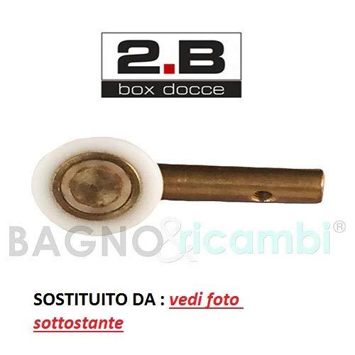 Generico Ricambio Ruota Cuscinetto Rotella con Carrello zama nichelato Box Doccia 2B NA0580