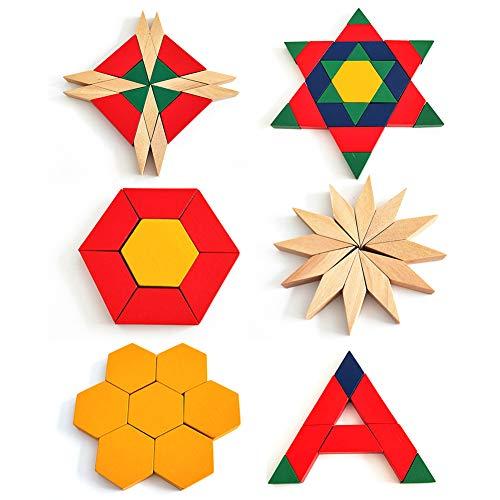 AOLYDA 250 Piezas De Rompecabezas De Madera Multicolores, Bloques De Construcción, Rompecabezas para Niños Pequeños Multicolor