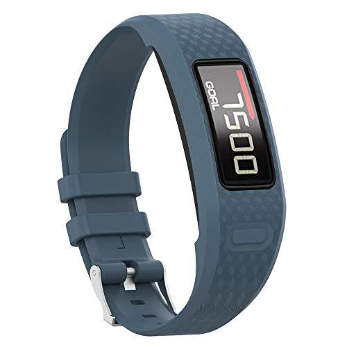 Uhrenarmbänder für Garmin Vivofit 1 Vivofit 2 Armband, Silikon Atmungsaktiv Replacement Uhrenarmband Sportarmband Band Erstatzband mit Schließe Bands Armband Band (Tiefblau)