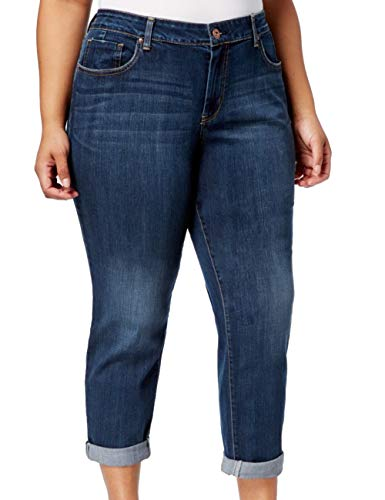 Jessica Simpson Women's Plus Size Mika Best Friend Relaxed Fit Jean, Wright/Wright, 16W