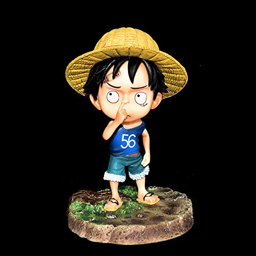 One Piece Hand-made Crimes Two GK Childhood Cuteness Cut Nose Sand Sculpture Luffy Q Edition Decoration Car Case Gift Gift