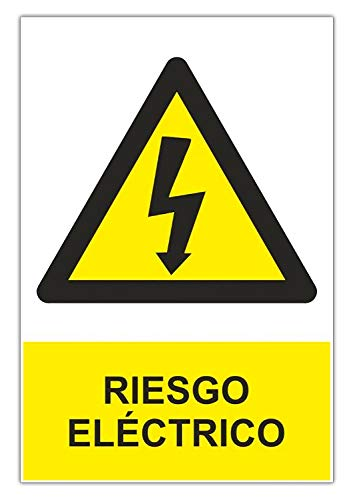 Normaluz RD35607 - Señal Adhesiva Riesgo Eléctrico Adhesivo de Vinilo 15 x...