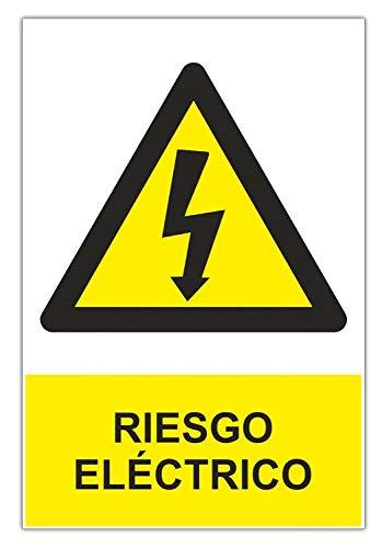 Normaluz RD35607 - Señal Adhesiva Riesgo Eléctrico Adhesivo de Vinilo 15 x 20 cm, Amarillo