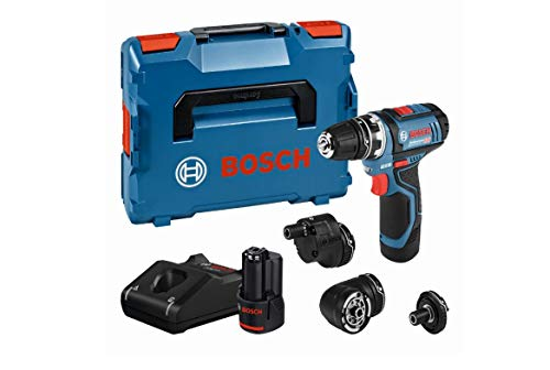 Bosch Professional GSR 12 V-15 FC Cordless Drill Driver Set with 2 x 12 V 2.0 Ah Lithium-Ion Batteries, L-Boxx