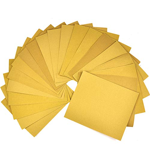 20 Pieces Multi-Use Sandpaper Sheets for Sanding Blocks