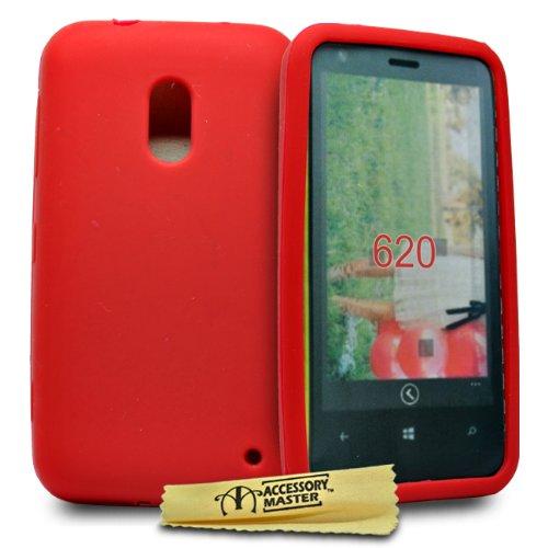 Accessory Master 5055716333299 siliconen gel beschermhoes voor Nokia Lumia 620 rood