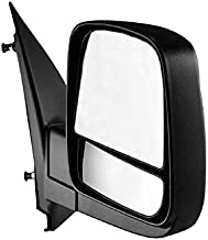 Passenger Side Textured Side View Mirror for 08-14 Chevy Express & GMC Savana 1500, 08-17 Chevy Express 2500 3500, GMC Savana 2500 3500 - with Blind Spot Corner Glass - GM1321395