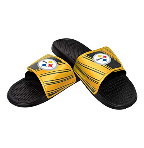 NFL Mens Legacy Sport Slide, Pittsburgh Steelers, Large / 11-12, Team Color