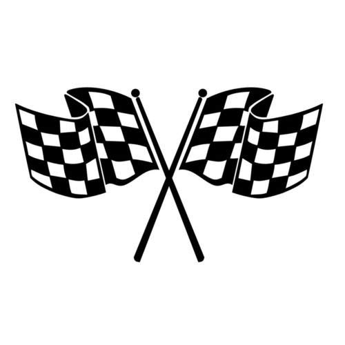 Checkered Flag Vinyl Decal Window Sticker Car Graphic Race Racing Finish Line, Die cut vinyl decal for windows, cars, trucks, tool boxes, laptops, MacBook - virtually any hard, smooth surface