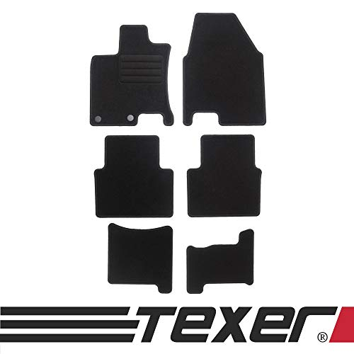 CARMAT TEXER Textil Fußmatten Passend für Nissan Qashqai I +2 Bj. 2008-2013 Basic