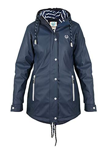 MADSea Damen Regenmantel Friesennerz dunkelblau wasserdicht, Farbe:Navy, Größe:48
