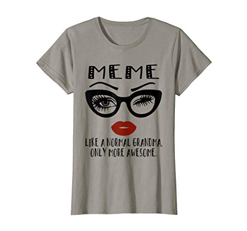 Womens Meme Like A Normal Grandma Only More Awesome Glasses Face T-Shirt