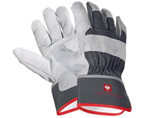 Engelbert Strauss Spaltleder-Handschuhe Cooper, Größe:8, Farbe:graphit