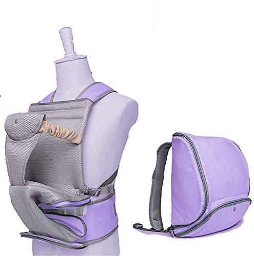 Carrier De Bebé Ergonómico Multifuncional Seas Hold Hold Baby Carrier Baby Cintura Taburete para Viajes De Madre Y Bebé, Púrpura,Púrpura