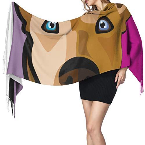 Cara de perro 505 Bufanda de mujer Bufandas de moda Chal de abrigo cálido Regalo de Navidad para madre Novia Hermana