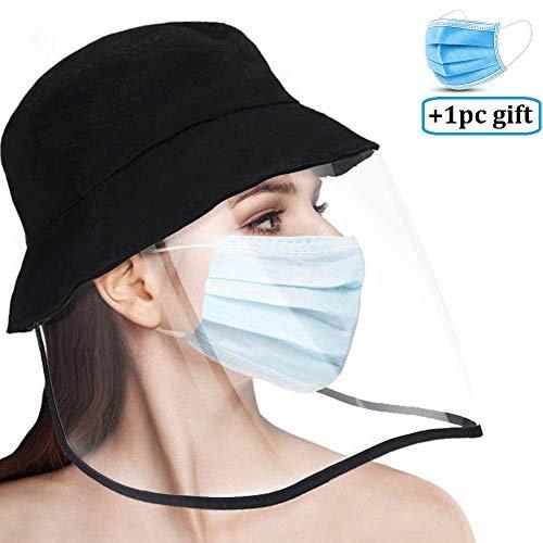 Anti-Speichel Schutzkappe Sicherheit Unisex Anti-Spuck-Hut Mit Anti-Spitting Transparenter Maske Gesichtsschutz Anti-Fog Wasserdichter Outdoor-Hut für Männer und Frauen staubdicht