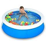 MGE Las Piscinas de natación Inflable Set, Piscinas Easy Set Redonda Kiddie con Bomba y Kit de Parches, for los niños, Adultos, bebés, niños, al Aire Libre, jardín
