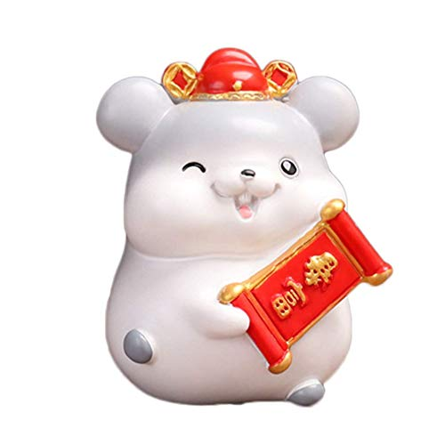 ADSE Piggy Bank Adorable Mouse Coin Money Bank Saving Pot Money Box Coin Storage Container Zodiac Rat Figures for Home Living Room Decorations Gift