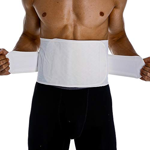 Umbilical Hernia Belt for Men or Women, Post Op Belly Abdominal Binder Post Surgery, Compression Band for Stomach Wrap after Surgery, Cotton