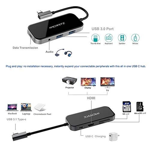 TP-Link Archer T3U AC1300 Dual Band WLAN Adapter schwarz + ARCANITE Premium USB-C-Hub, 100W Leistung, 4K x 2K HDMI, 2 USB 3.0 Anschlüsse Typ A, microSD- und SD-Kartenleser, 3,5mm Audiobuchse