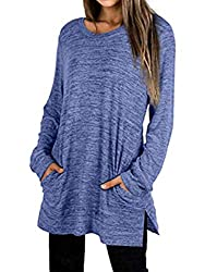 Please go up a size or two sizes, the tops is on small size!!!! It's a wonderful tunic super soft, stretchy,feels great on skin. Not to heavy, but not too thin. You can layer it anyway you want and not get hot. Basically a long sleeve t shirt with po...