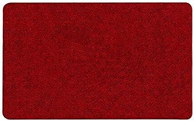 Door Mat Heavy Duty-Dirt Trapper Barrier Mat Indoor and Outdoor-Non Slip & Super Absorbent Doormats-Red,50x160cm